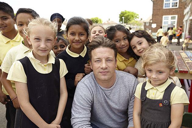 childhood obesity jamie with children at school