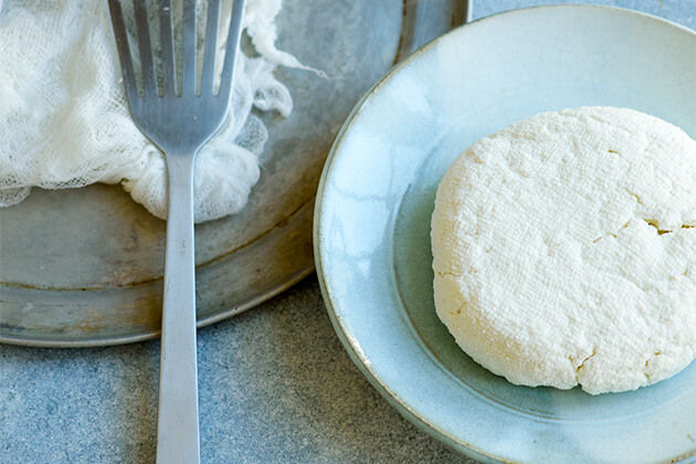 ricotta cheese on a plate - how to make it