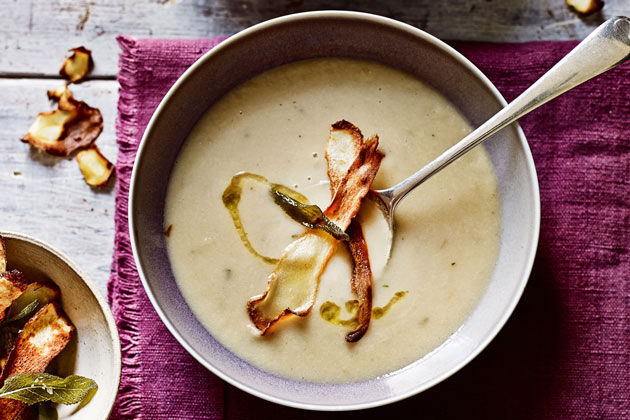 winter soup recipes parsnip soup with parsnip on top