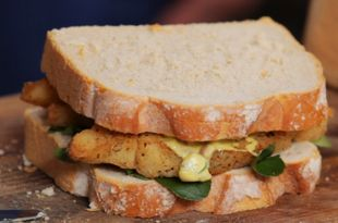 Southern Fried Fish Finger Sandwich
