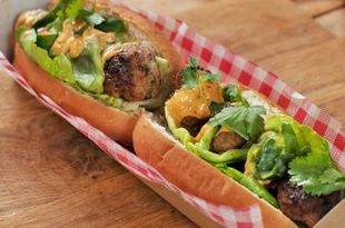 Spicy Moroccan Meatball Sub