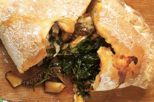 Easy Mushroom & Spinach Pizza Calzone Recipe