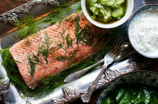 Donal's Perfect Poached Salmon