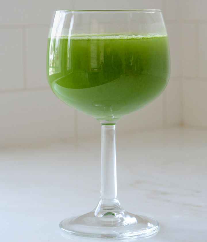 Glass of healthy green juice