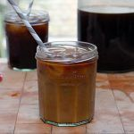 cold brew coffee drink with ice