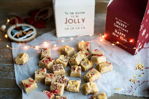 Creamy sea-salted fudge: the perfect gift