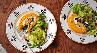 Roasted squash & goats cheese roulade: French Guy Cooking