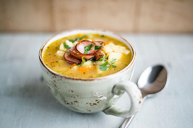 Slow Cooker German Potato Soup Kartoffelsuppe Jamie Oliver