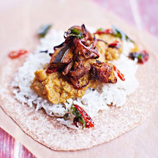 Aubergine daal – cheap as chips, but way tastier!