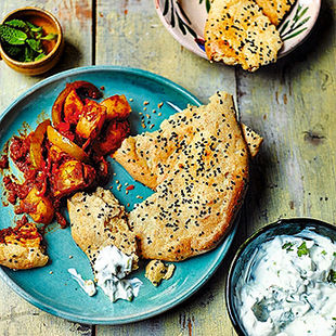 Almond flatbread – perfect for dunking in dips and scooping up curry