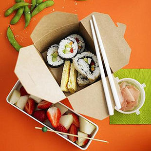 Veggie sushi rolls for a super-special lunchbox