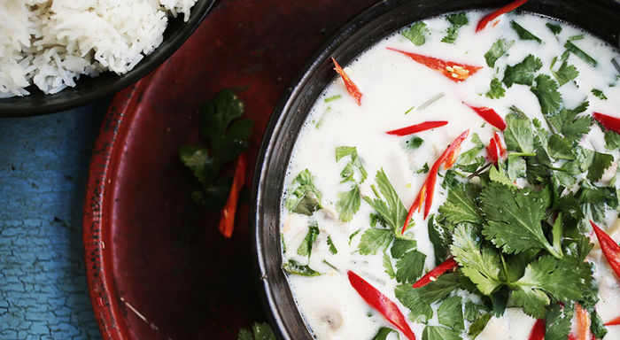 Spicy Thai chicken soup: Dheeradon Dissara