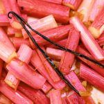 a scatter of rhubarb