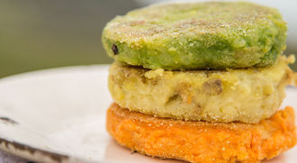Irish flag potato cakes: The Happy Pear