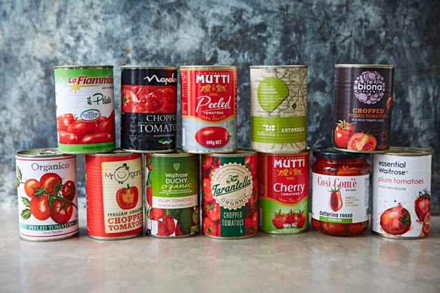 tomato products from waitrose stores. puree, tinned and passata