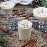 eggnog cocktail recipe in glasses