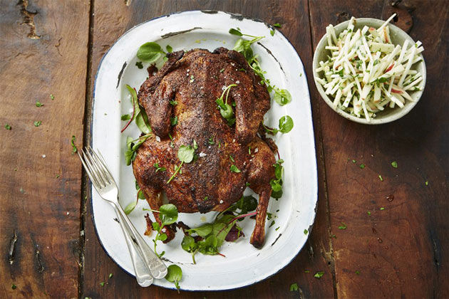 slow roast ruck with celeriac remoulade