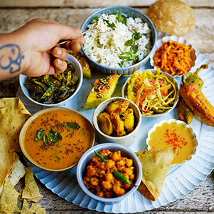 Tackle thali at the Jamie Oliver Cookery School