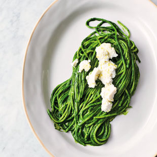 Green spaghetti – not just for Halloween