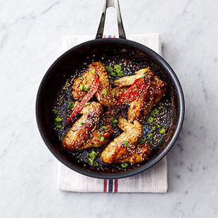 Sticky, spicy chicken wings from Jamie's book