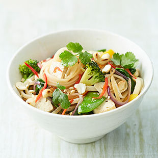 A crunchy, punchy veggie noodle stir-fry to start the week
