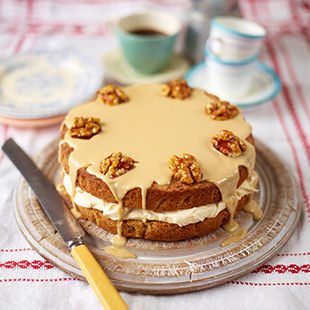 The best coffee & walnut cake – perfect for weekend baking