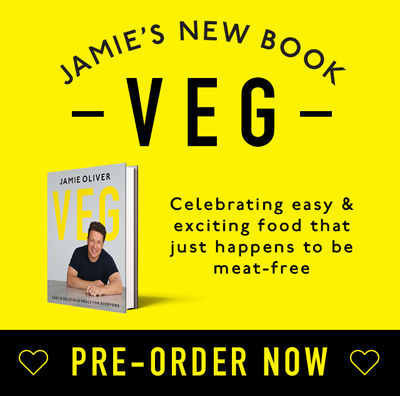 Pre-order Jamie's new Veg book on Amazon
