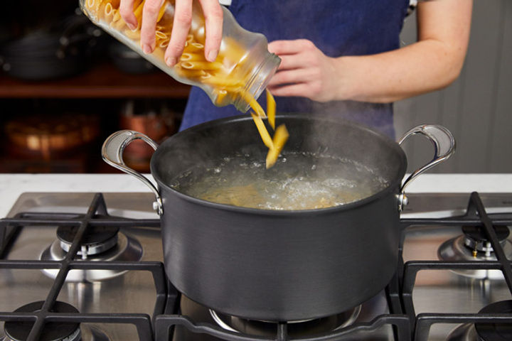 How to cook pasta step 3: Pour your pasta into boiling water