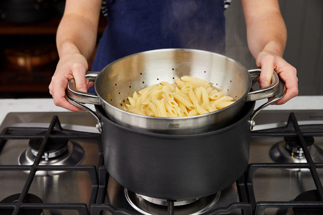 How to cook pasta step 6: Drain your pasta