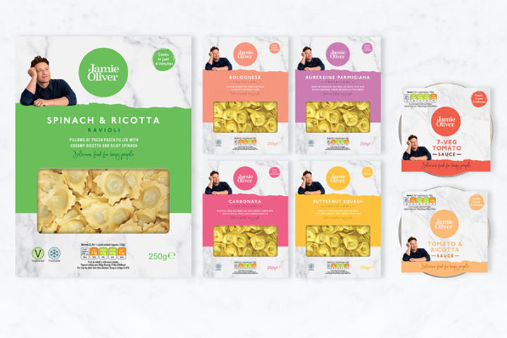 Jamie's new fresh pasta range