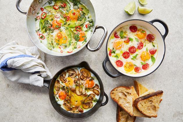 Breakfast ideas - baked eggs lots of ways