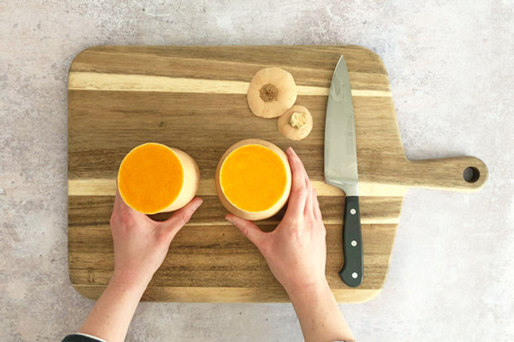 How to chop a butternut squash equipment: Step 5