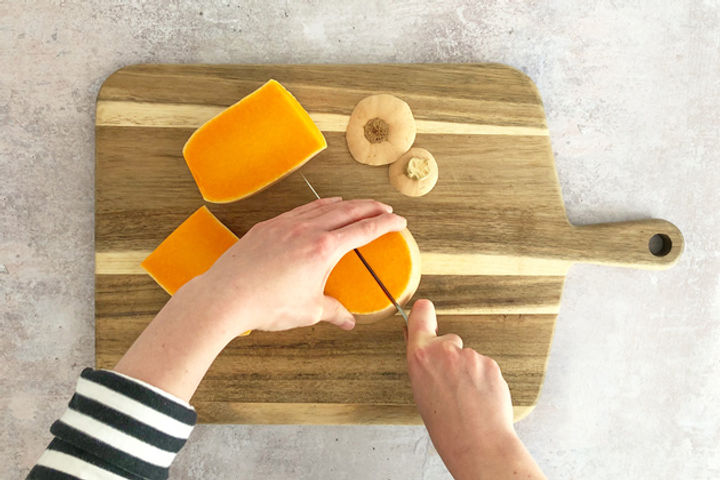 How to chop a butternut squash equipment: Step 6