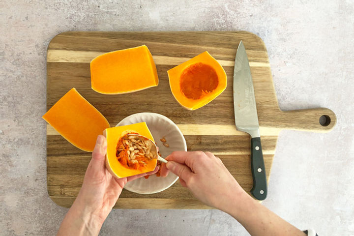 How to chop a butternut squash equipment: Step 7