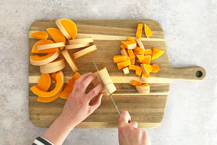 How to chop a butternut squash equipment: Step 9