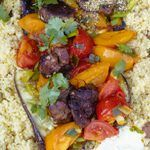 tomatoes, cous cous and coriander salad