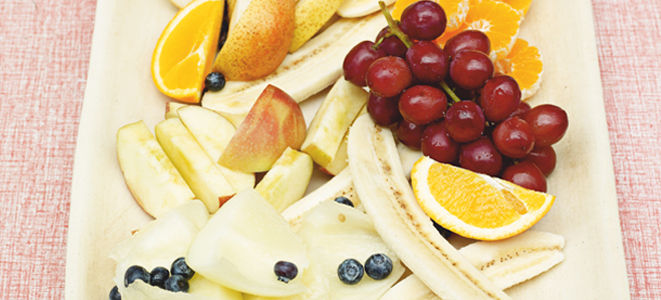 mixed fruit salad in a pile
