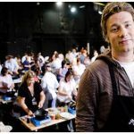 Jamie Oliver at a cooking event