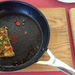 danish omelette with veg and herbs in