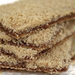 gingerbread house walls covered in brown sugar