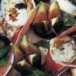 Valentine's Day recipes - fig salad with cheese and ham