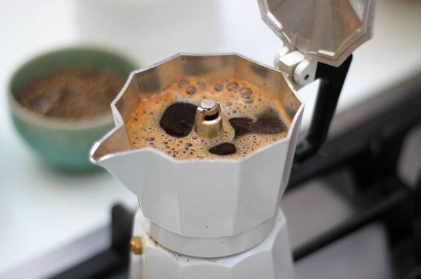coffee being made for an espresso