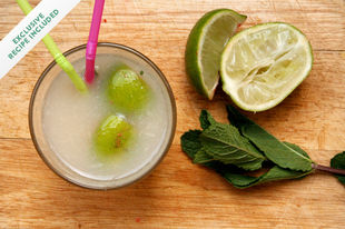 Tropical cocktails: Lychee mojito