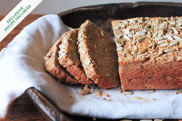 sunflower seed bread loaf sliced