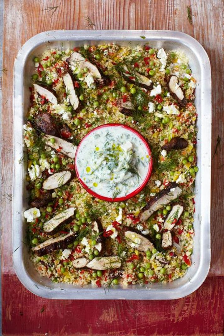 greek chicken and couscous