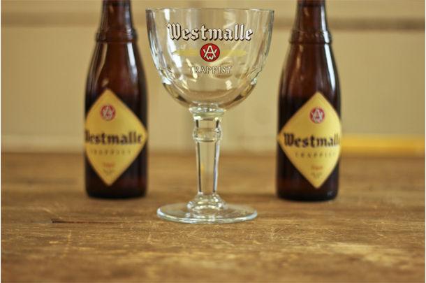 2 bottles of westmalle Belgian beer