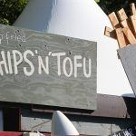 deep fried chips 'n' tofu sign