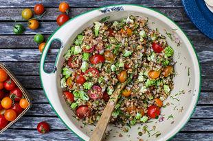Autumn meals: Tomato farro salad