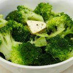 broccoli with butter on top