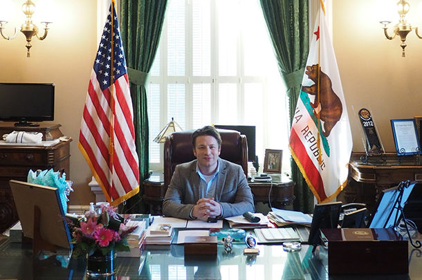 water - Jamie in president office